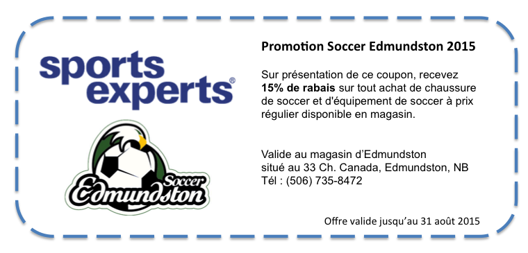 Offre spéciale du Sports Experts d'Edmundston
